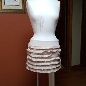 Bebe ruffle and sequins mini skirt